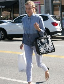 Diane-Kruger-In-Zara-Shirt-Adriano-Goldschmied-Joan-On-The-Third
