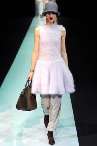 Emporio_Armani_Fall_2013_Mohair_Dress