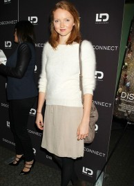 Lily-Cole-wore-a-white-mohair-jumper-with-a-nude-skirt