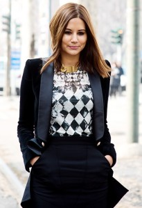christine-centenera-mfw-fall-2013-balmain-checkered-tshirt-celine-cuffs