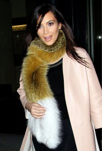 Kim Kardashian and Kanye West out and about, New York, America - 23 Feb 2014