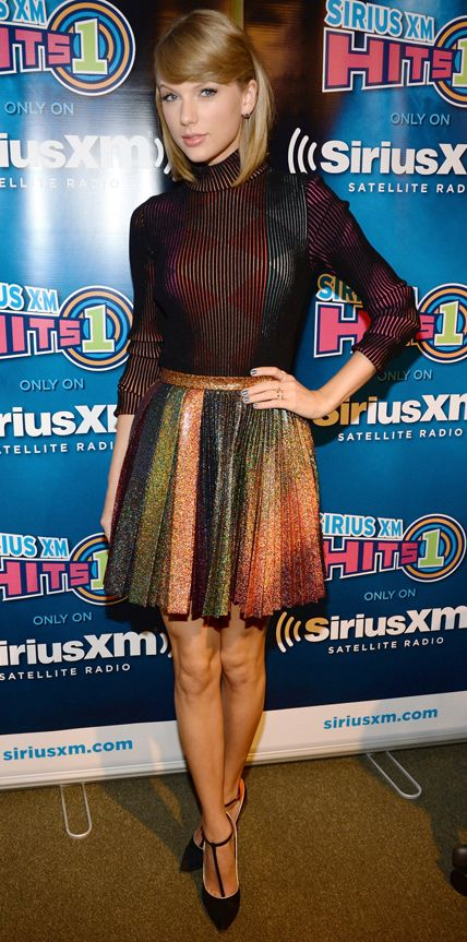 "(Exclusive Coverage) Taylor Swift attends ""Town Hall"" airing live on SiriusXM Hits 1 at SiriusXM Studios on October 29, 2014 in New York City."